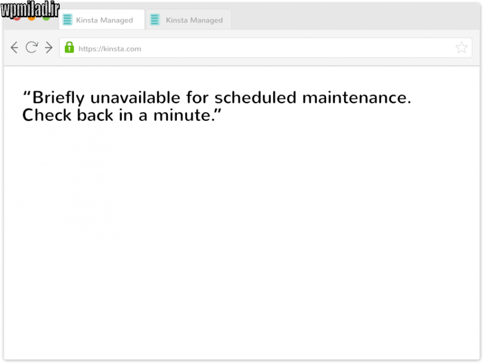 رفع خطای Briefly Unavailable for Scheduled Maintenance در وردپرس