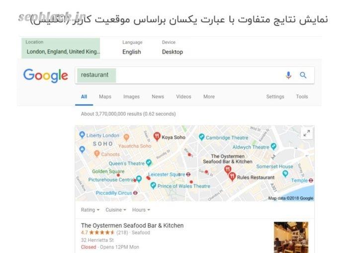 شخصی سازی کردن نتایج جستجو