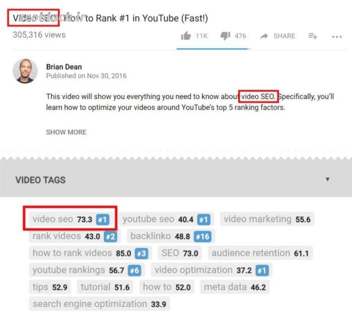 پیدا کردن کلمات کلیدی در ویدئوهای محبوب یوتیوب