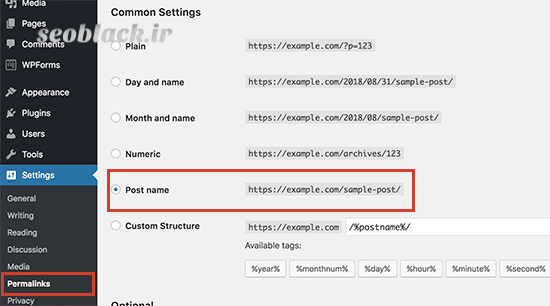 استفاده از آدرس (URL) های بهینه شده و سئو وردپرس