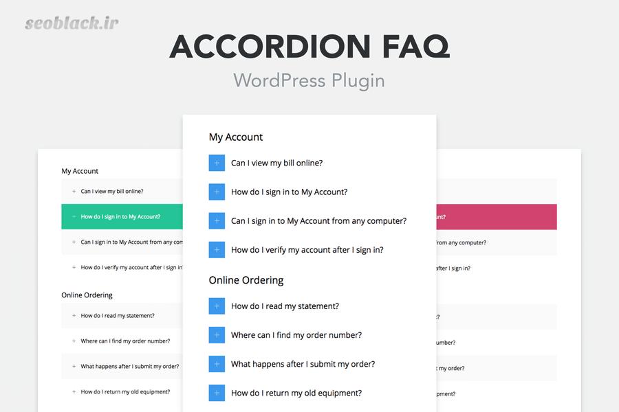 افزونه Accordion FAQ