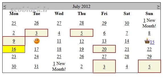 نمونه تقویم تولید محتوا